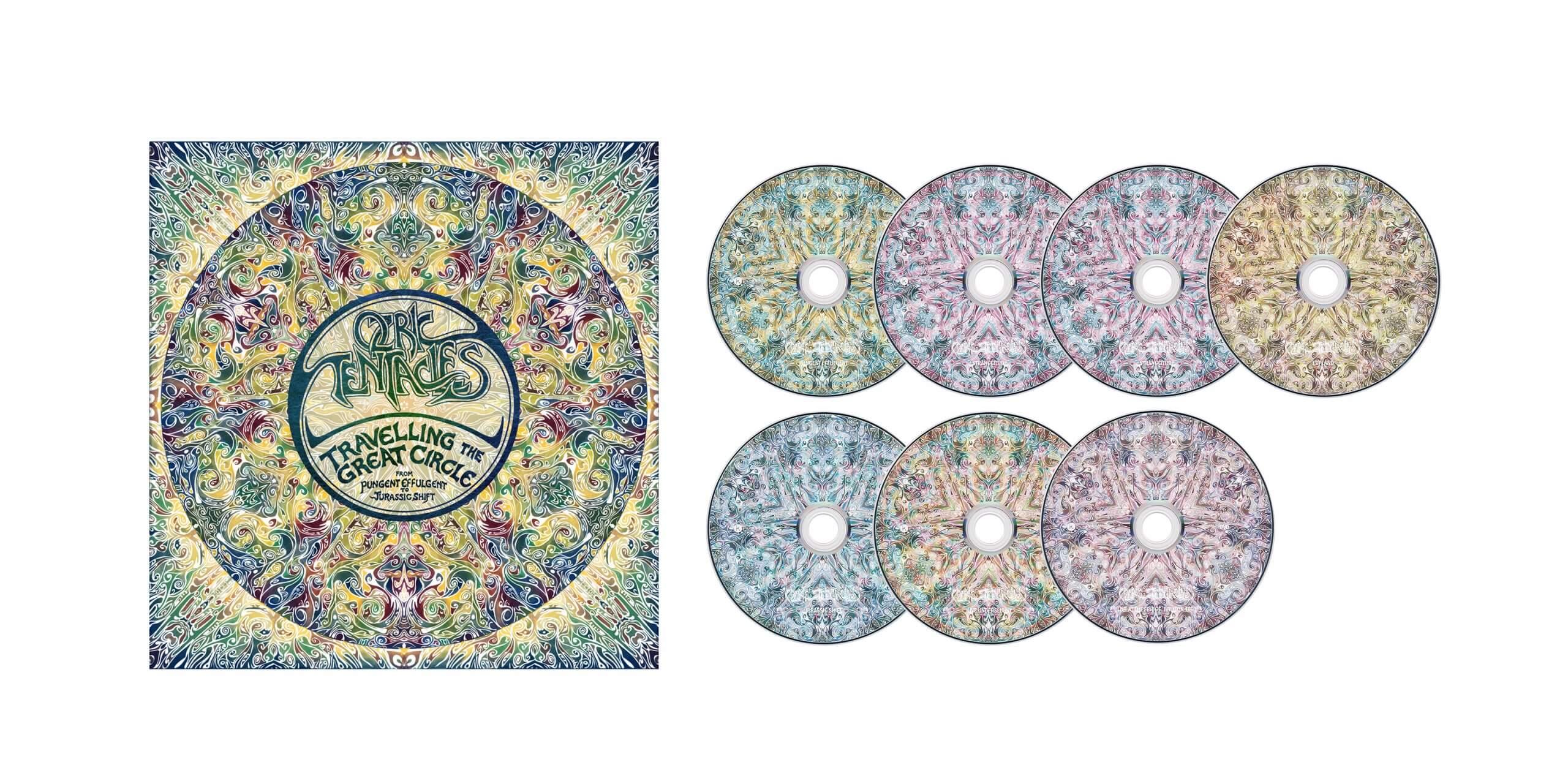Album artwork with CDs