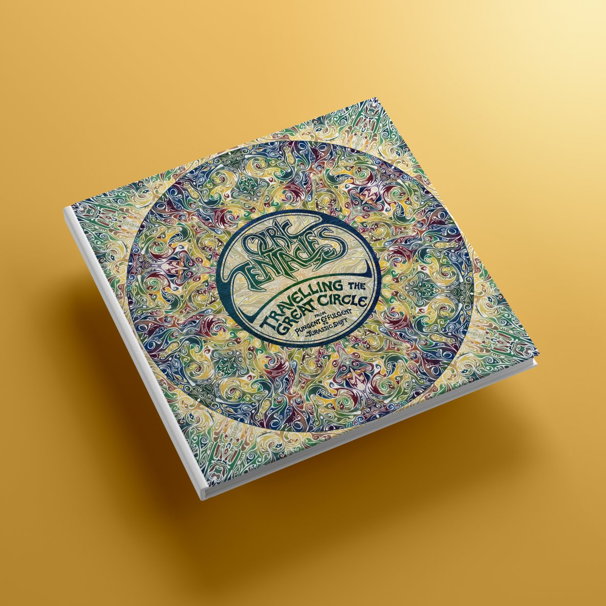 CD pack on a yellow background